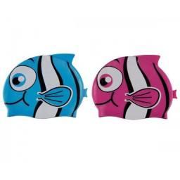 (WhatsApp) touca para natação de silicone peixinhos - mor