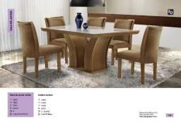 mesa leblon 6 cadeiras zap  *