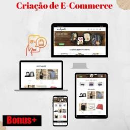Título do anúncio: Criação de Loja Virtual (Hospedagem Grátis + Dominio Grátis)