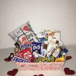 Cesta de Chocolates - Namorados