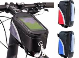 Bolsa Porta Objetos e Porta Celular de Quadro Bike Ciclismo