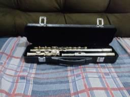 Flauta Transversal Eagle Fl03s Fl03 Em Dó Com Case Prateada