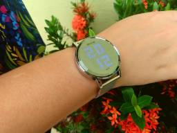 Relógio Seculus Espelhado Prata Novo