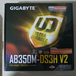 Placa Mãe Gigabyte AB350M DS3H V2 AMD AM4