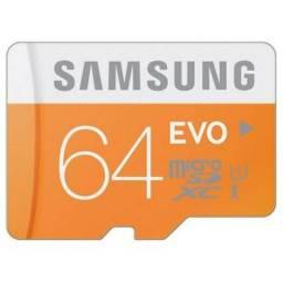 Micro SD 64gb Samsung EVO + Adaptador