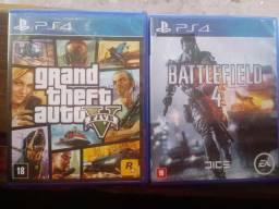 Grand Theft Auto V e Battlefield 4 PS4
