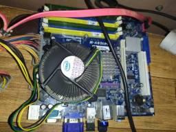 Kit 775 core 2 quad 8400 2.66 Gh.z 6gb de memoria + placa mãe* + 160gb de hd