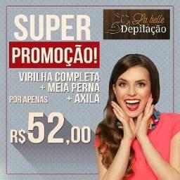 Promoção depilação feminina