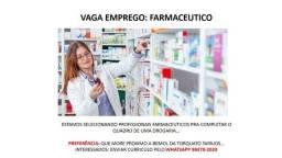 Vaga de emprego para Farmaceutico