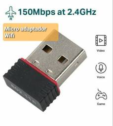 Mini Adaptador USB WI-FI para PC e Notebooks