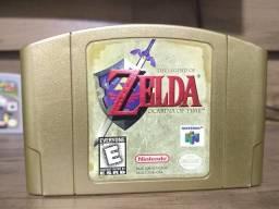 Zelda Ocarina of Time Gold N64 comprar usado  Campo Grande