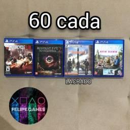 Jogos de PS4 Playstation 4 60 cada