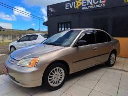 Honda Civic LXL Motor 1.7 Ano 2001 GNV 5° geração automatico