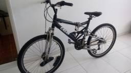bicicketa caloi 21v aluminium full suspension aero