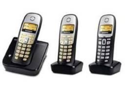 3 telefones sem fio GIGASET Siemens SEM BATERIA