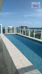 Cobertura com 4 dormitórios para alugar por r$ 5.700/mês - praia do pecado - macaé/rj