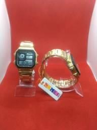Relógio skmei original a prova d'água luxo inox unissex novo retrô quadrado