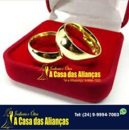 Alianças ouro 18 kilates noivado e casamento /6 mm -( 15 Gramas)