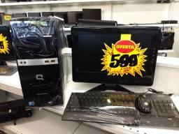 Kit computador completo CPU+monitor+teclado+mouse