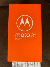 Motorola Moto E6 Play 32GB Azul Dual Chip Na Caixa Lacrada Com Nota Fiscal e Garantia