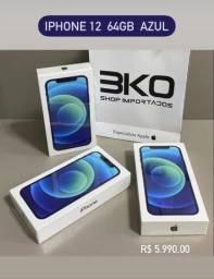iPhone 12 64Gb Azul / Novo 1 Ano Garantia