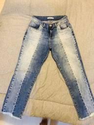 Calça jeans capri - marca Mamô