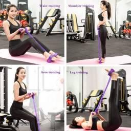 Extensor Elástico para Exercícios de Pilates - Cor Roxo