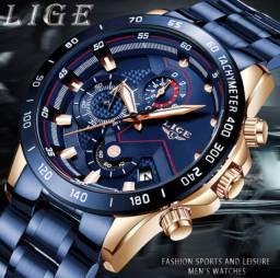 Relógio Luxo Aço Inox 2020 Moda Black Friday