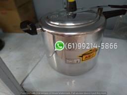 Panela de Pressão Alumínio Polido Fechamento Interno Abc 10 Litros