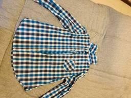 Camisa feminina quadriculada - Taco