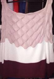 Blusa lã detalhe escama