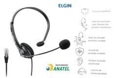 Head set Fone com microfone para telefones digital e analogico novos Lacrados