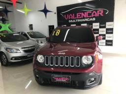 Jeep Renegade 1.8 Longitude com GNV 2018 IPVA 2021 Grátis e Primeira Parcela Para 90 Dias