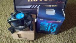 kit  processador i3 9100f + placa mãe h310m biostar