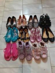 Lote sapatos menina número 26 e 27