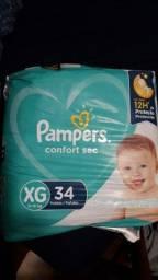 Título do anúncio: Fralda Pampers Confort Sec tamanho XG - 34 unidades