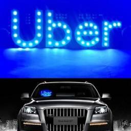 Letreiro Painel luminoso Led Uber isqueiro com botão liga e desliga