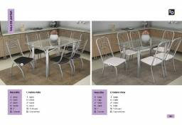 mesa de jantar elba com 6 cadeiras zap  *