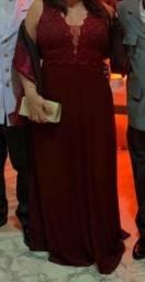 Vestido de festa G marsala