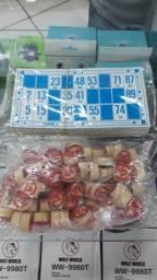 Bingo Cartelas 48+90 números de madeira jogos