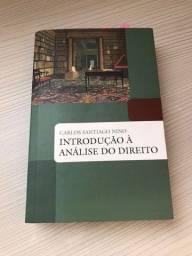 Título do anúncio: livro introdução à análise do direito