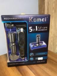 Título do anúncio: Maquina de Cortar Cabelo Barbeador Elétrico Kemei 690 Recarregável 5 Em 1 KM-690