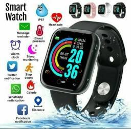 Relógio Smart Y68 À Prova D 'Água Com Rastreador por APENAS 49,99