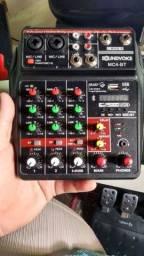 Mesa De Som 4 Canais Bluetooth Interface Gravação Usb