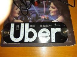 Placa Uber Led Branca