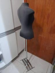 Manequim busto com pé de alumínio