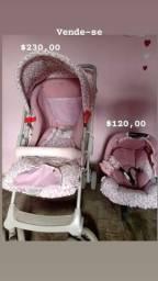 Carrinho semi-novo /  bebê conforto