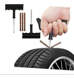 Kit Reparo Borracheiro Peças Pneus Câmara Veículos e Motos