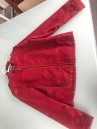 Jaqueta infantil camurça (tamanho 12)
