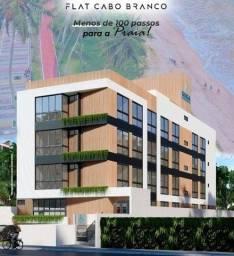 Excelente opção Flat no Cabo Branco, 100 Passos da Praia!!